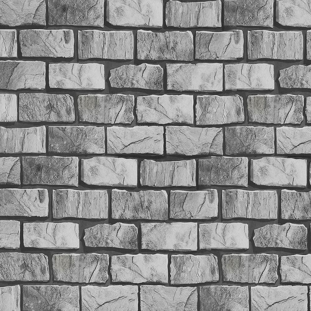 Dundee Deco Papier peint auto-adhésif, Falkirk McGowen, 35.5 pi², briques beige gris