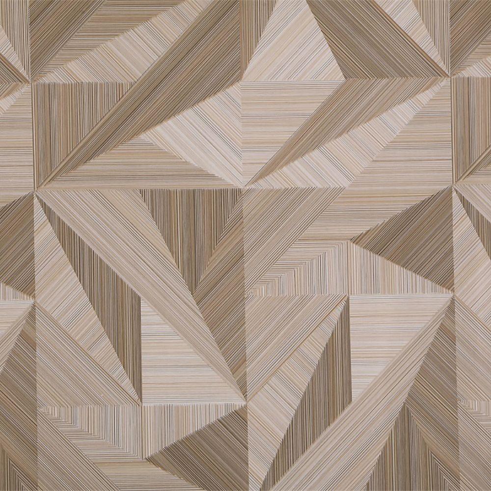 Dundee Deco Papier peint auto-adhésif, Falkirk McGowen, 35.5 pi², formes triangulaires nuances de beige