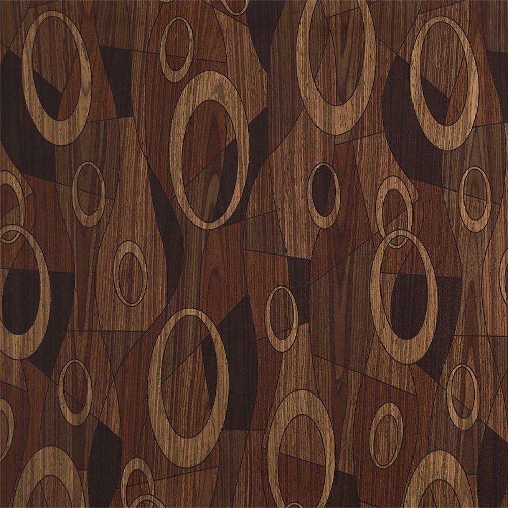 Dundee Deco Papier peint auto-adhésif, Falkirk McGowen, 26.6 pi², cercles, formes beige brun foncé foncé