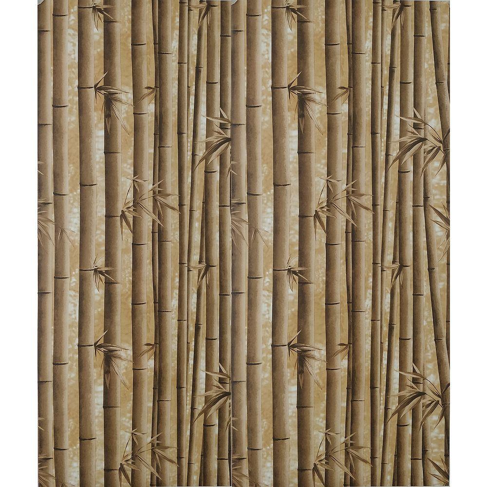 Dundee Deco Papier peint auto-adhésif, Falkirk McGowen, 26.6 pi², pousses de bambou marron
