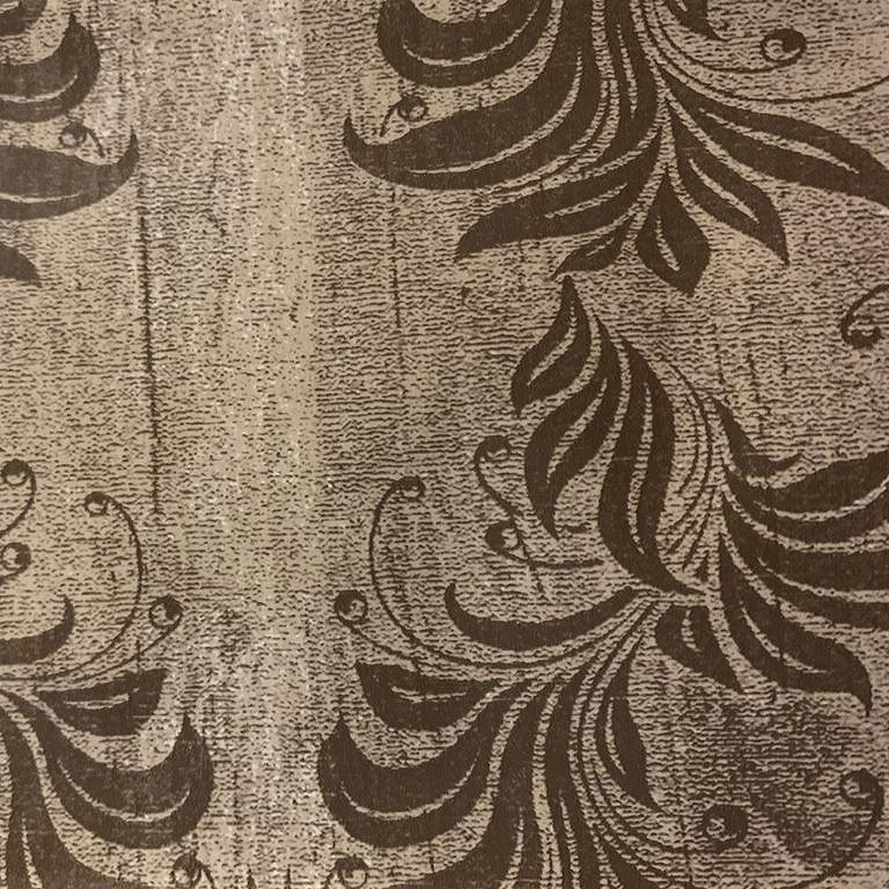 Dundee Deco Falkirk McGowen 26.6 sq. ft. Peel and Stick Beige Brown Leaves, Vines Wallpaper