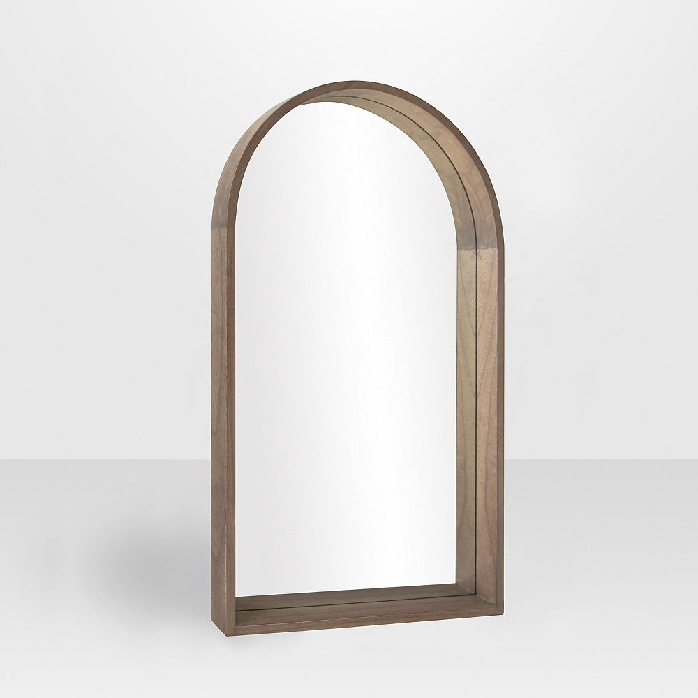 "The Tangerine Mirror Company Deluca Wood Arch Mirror, Pear Finish 22"" x 38"" x 2"""