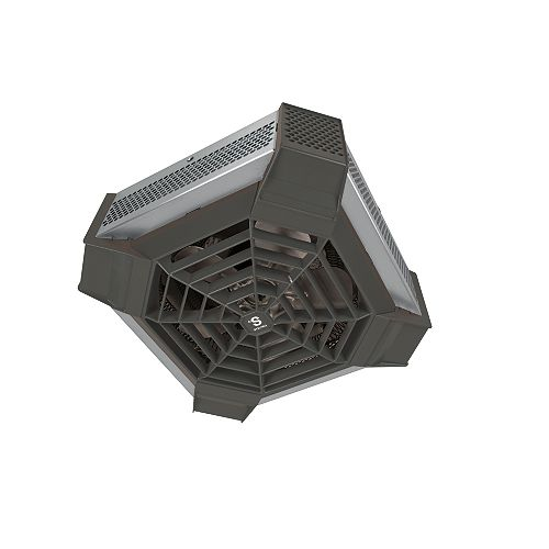 Stainless steel Spider ceiling fan heater