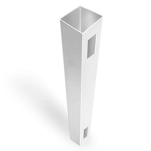 "5X5X108"" White vinyl fence end/gate post"