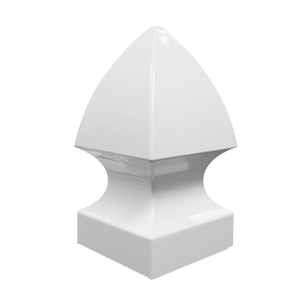 Barrette 5X5'' White vinyl fence Gothic post top