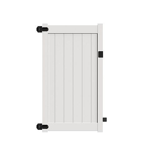 """6X46"""" with 5.5'' top rail, White vinyl fence privacy walk gate"""