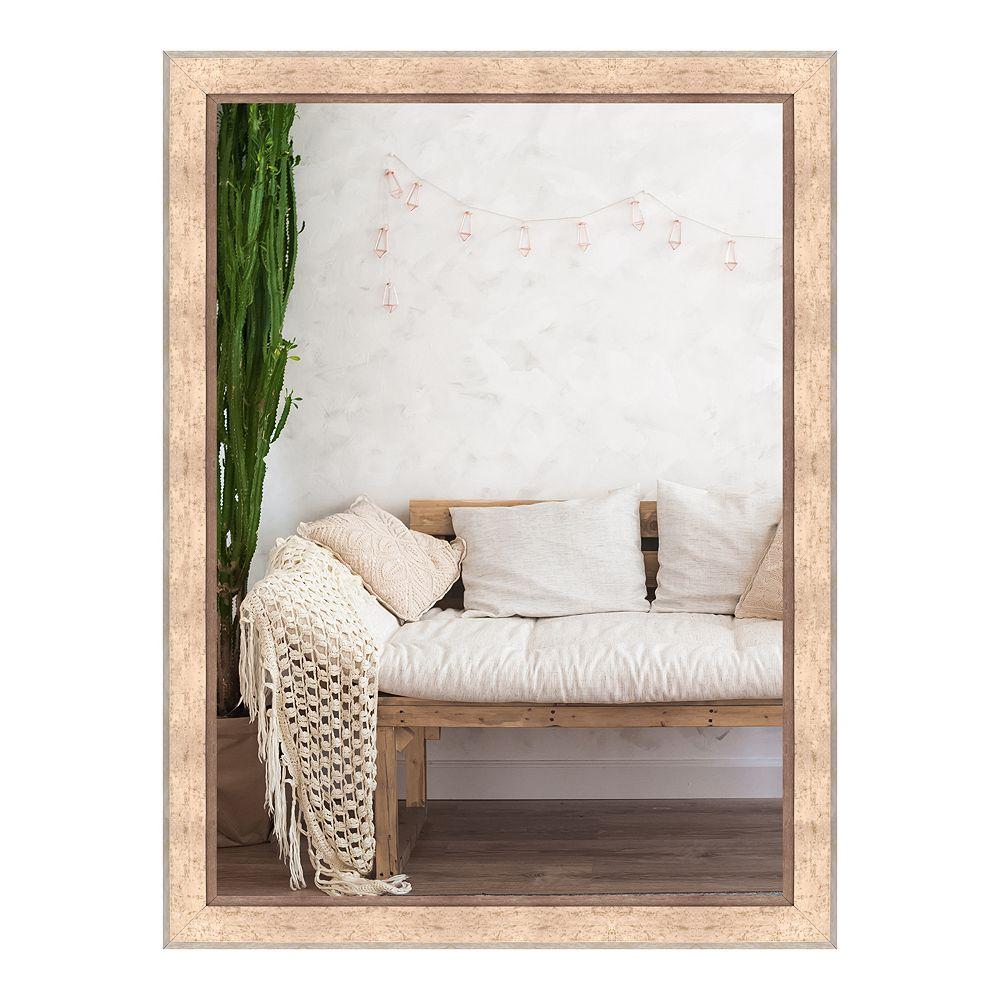 Art Maison Canada 24 x 32 pouces miroir mural grand décor moderne beige moucheté d'accent
