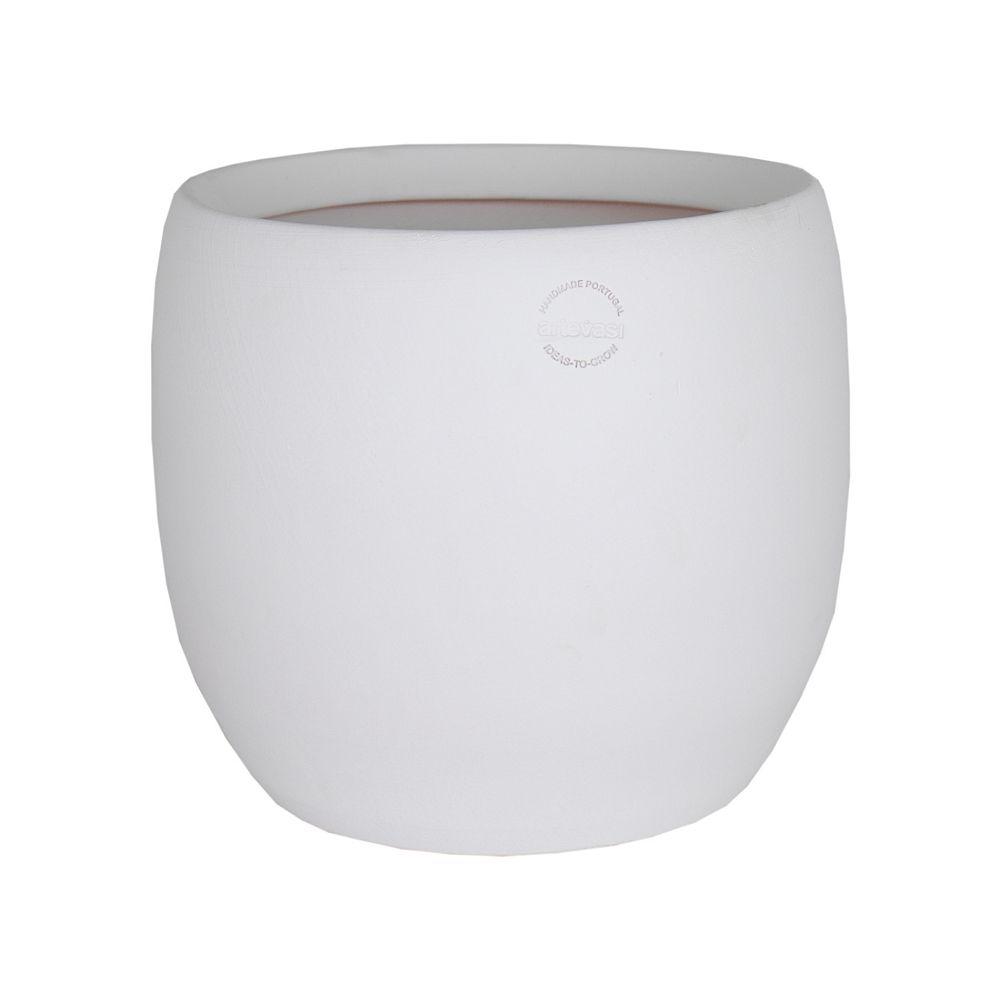Les Entreprises Marsolais Cover Pot Cibele Collection Ceramic White 39 cm