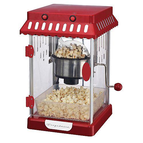 Retro Countertop Popcorn Maker - Red