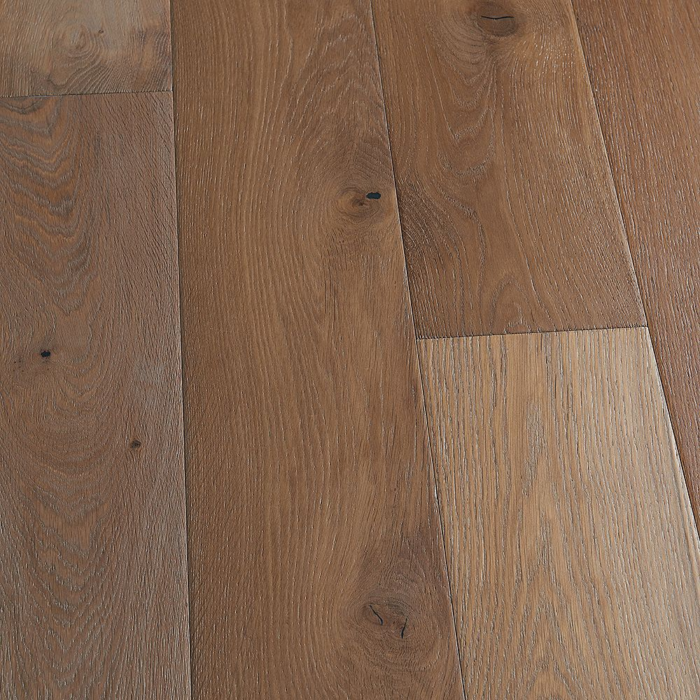 Malibu Wide Plank Take Home Sample - French Oak Maya Bay Engineered Click Hardwood Flooring - 5 in. x 7 in.