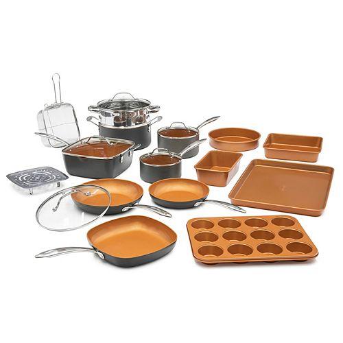 Gotham Steel Professional Ti-Ceramic Hard Anodized Ultimate Nonstick 20-Piece Cookware Set