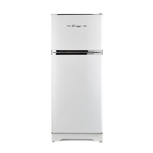 14 cu. ft. Classic Retro Propane Top Freezer Refrigerator with CO Monitor in Marshmallow White