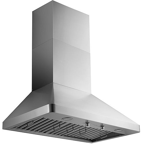 Ancona 36 in. Pro Series 1000CFM Ducted Wall Mount Range Hood in Stainless Steel