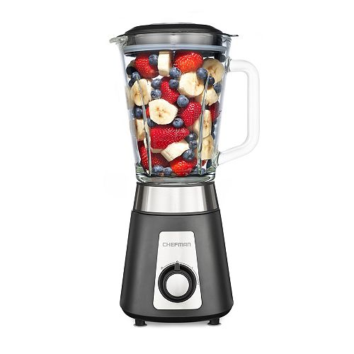 Chefman 500 Watt Blender, Glass Jar