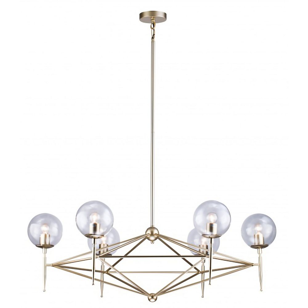 Living Design Lustre En Or, 6 Lumières, 41 Pouces