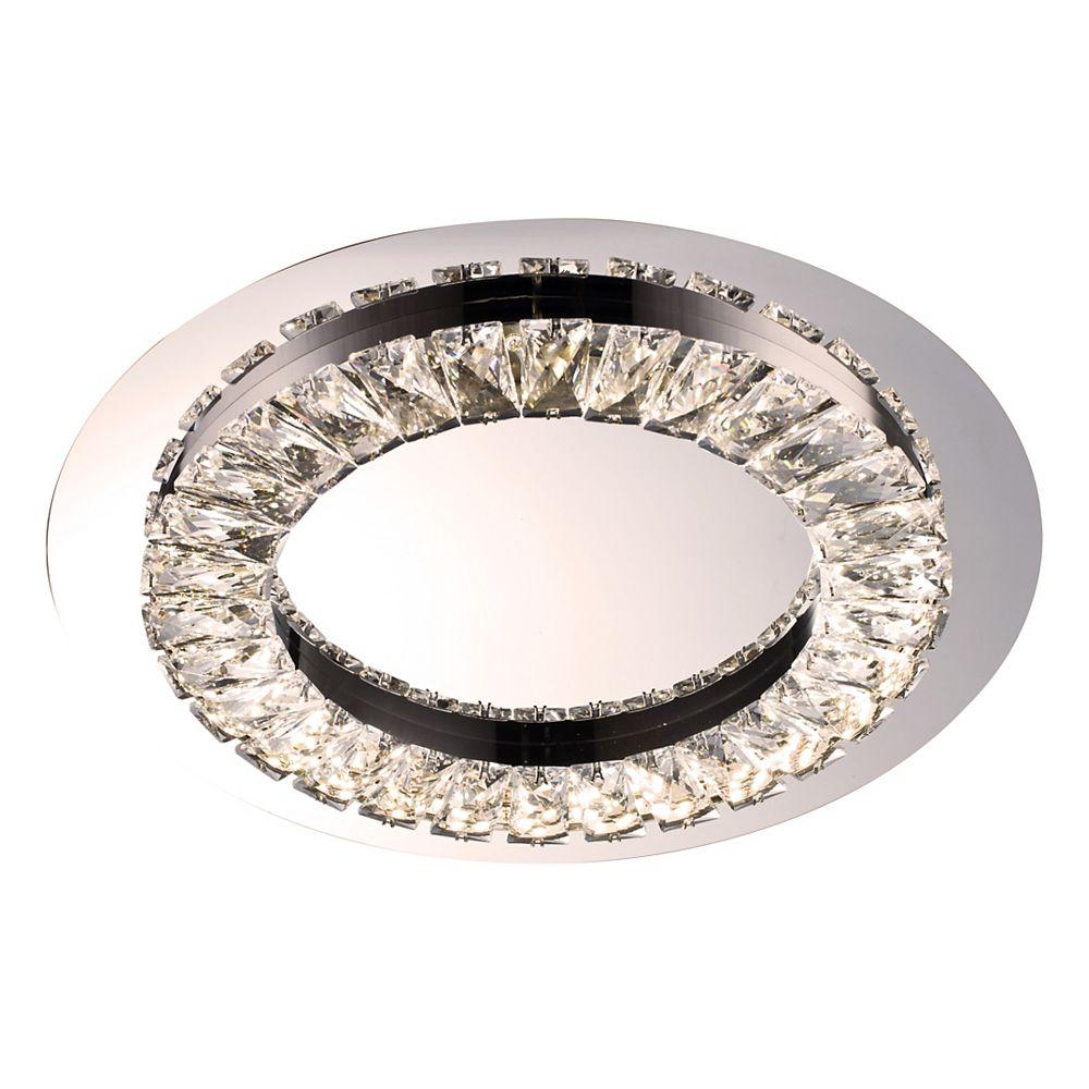 Living Design 1-Light 15-inch Chrome Integrated Led Flushmount