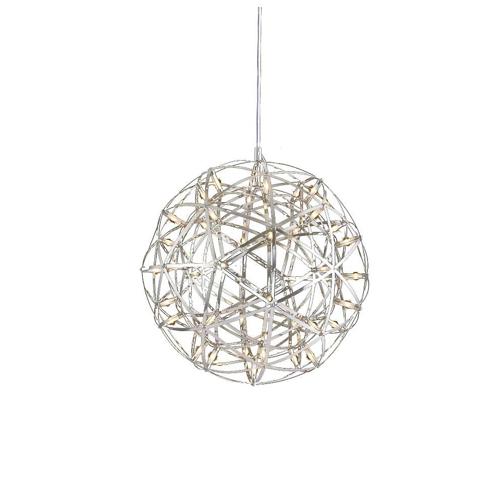 Living Design 11.8-inch Chrome Integrated Led Chandelier With Led Star Lights