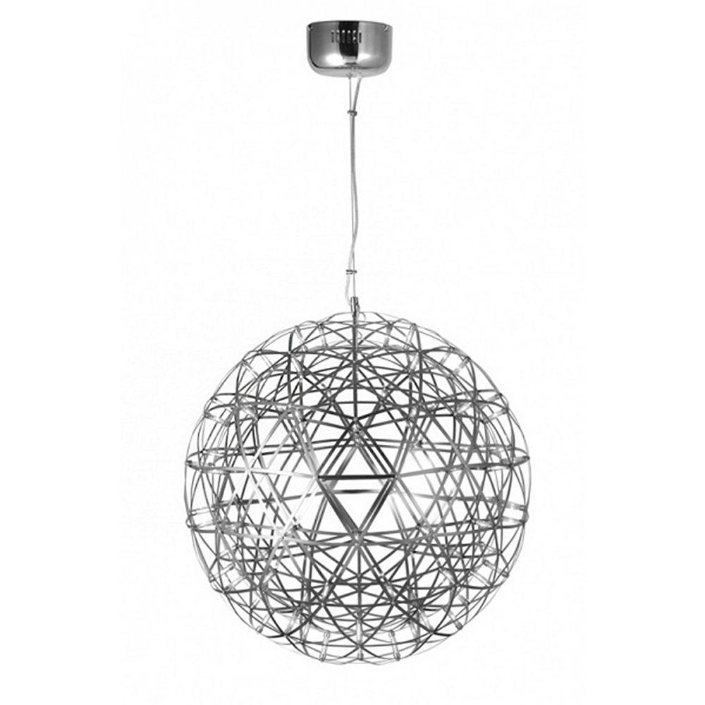 Living Design Lustre À Del Intégré En Nickel Satin De 25,6 Pouces Avec Étoiles À Del
