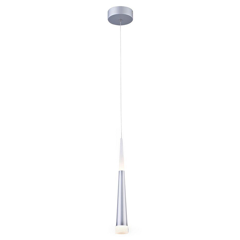 Living Design Luminaire Suspendu Del Simple En Métal Argent Sablé Et Acrylique