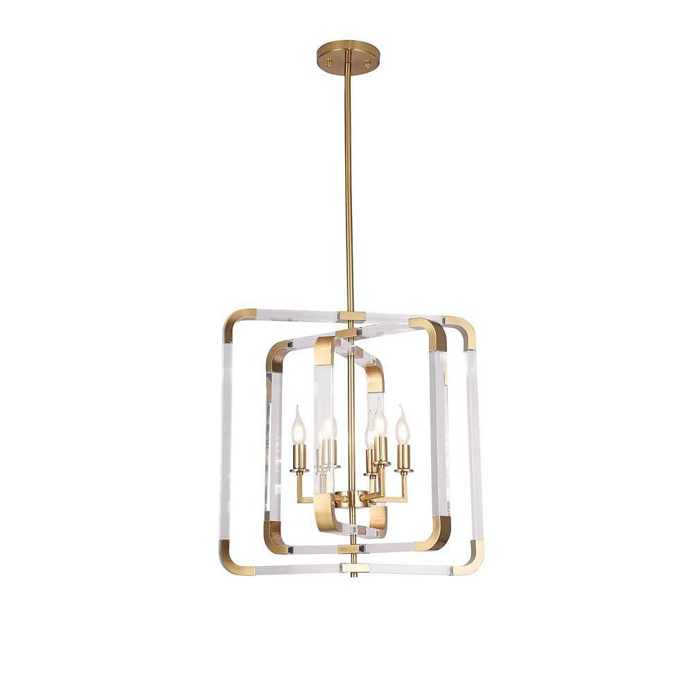 Living Design 6-Light 23.2-inch Copper Chandelier