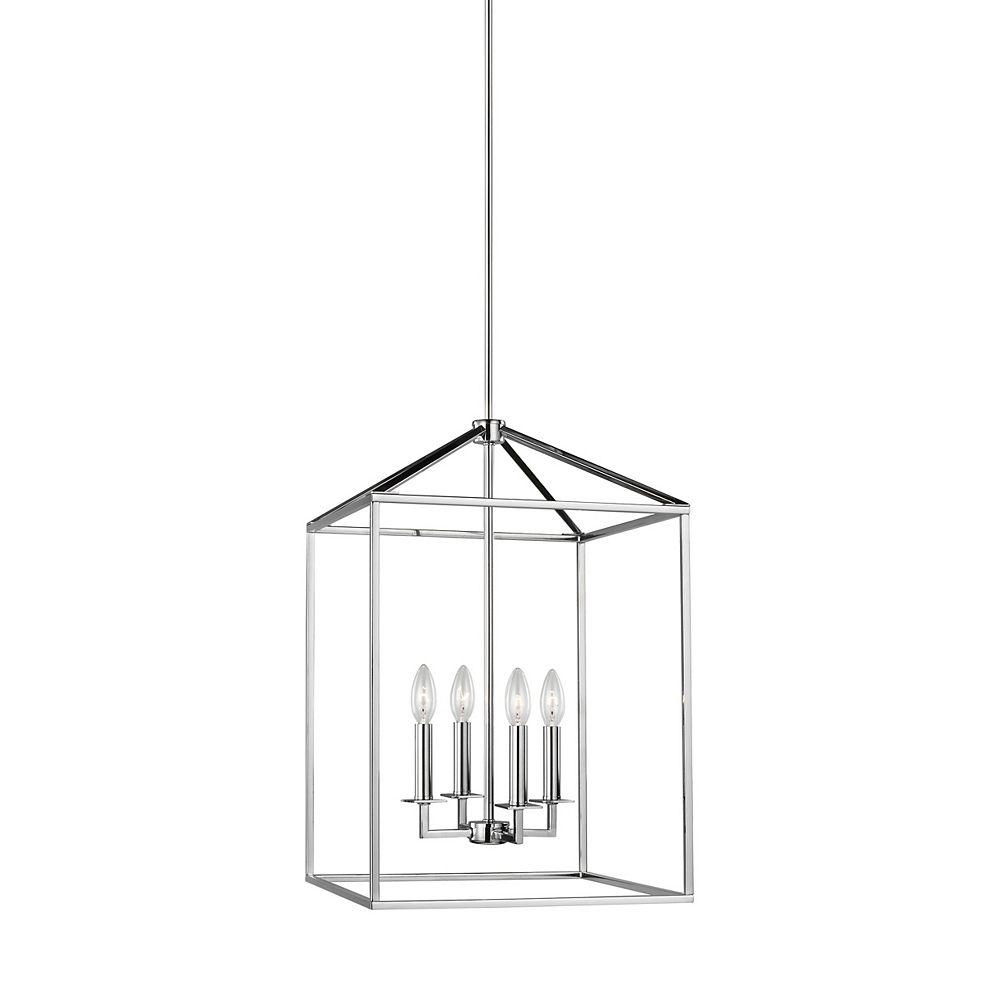 Sea Gull Lighting Perryton 60w 4-Light Chrome Medium Hall / Foyer Chandelier