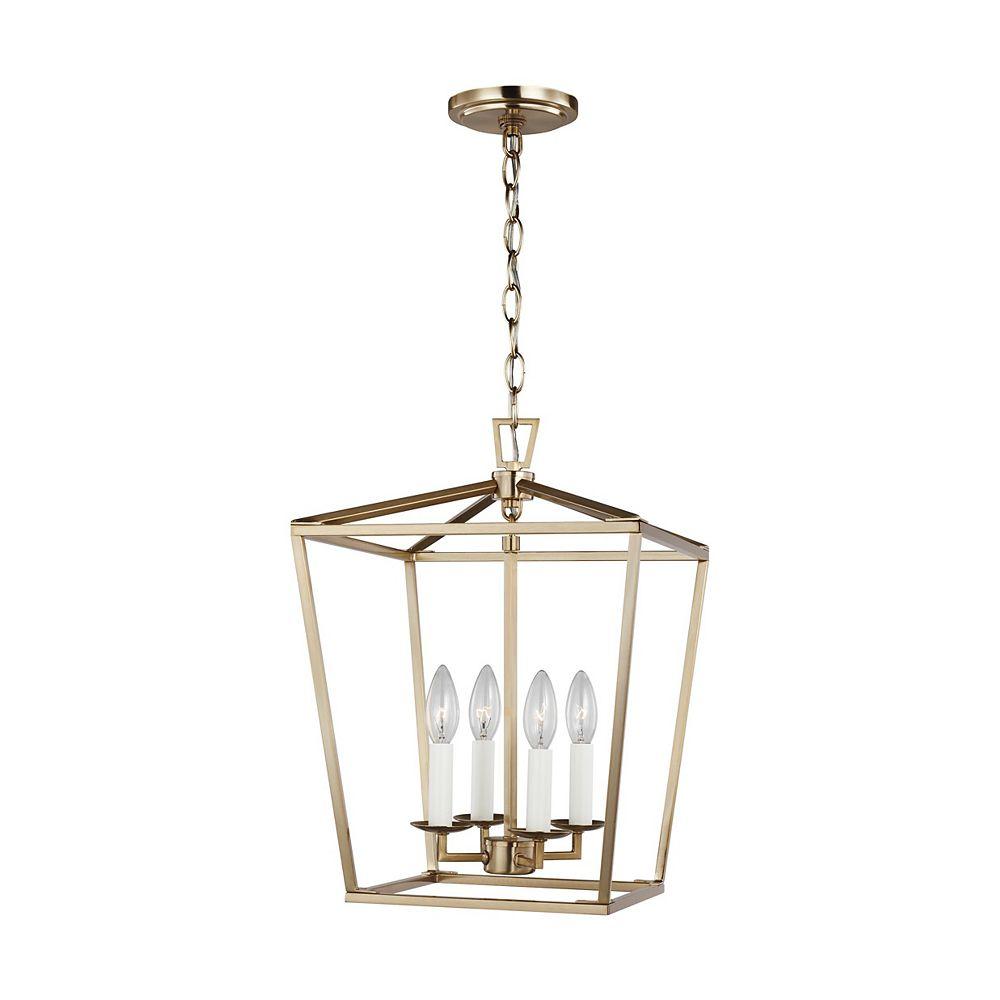 Sea Gull Lighting Dianna 60w 4-Light Satin Brass Chandelier