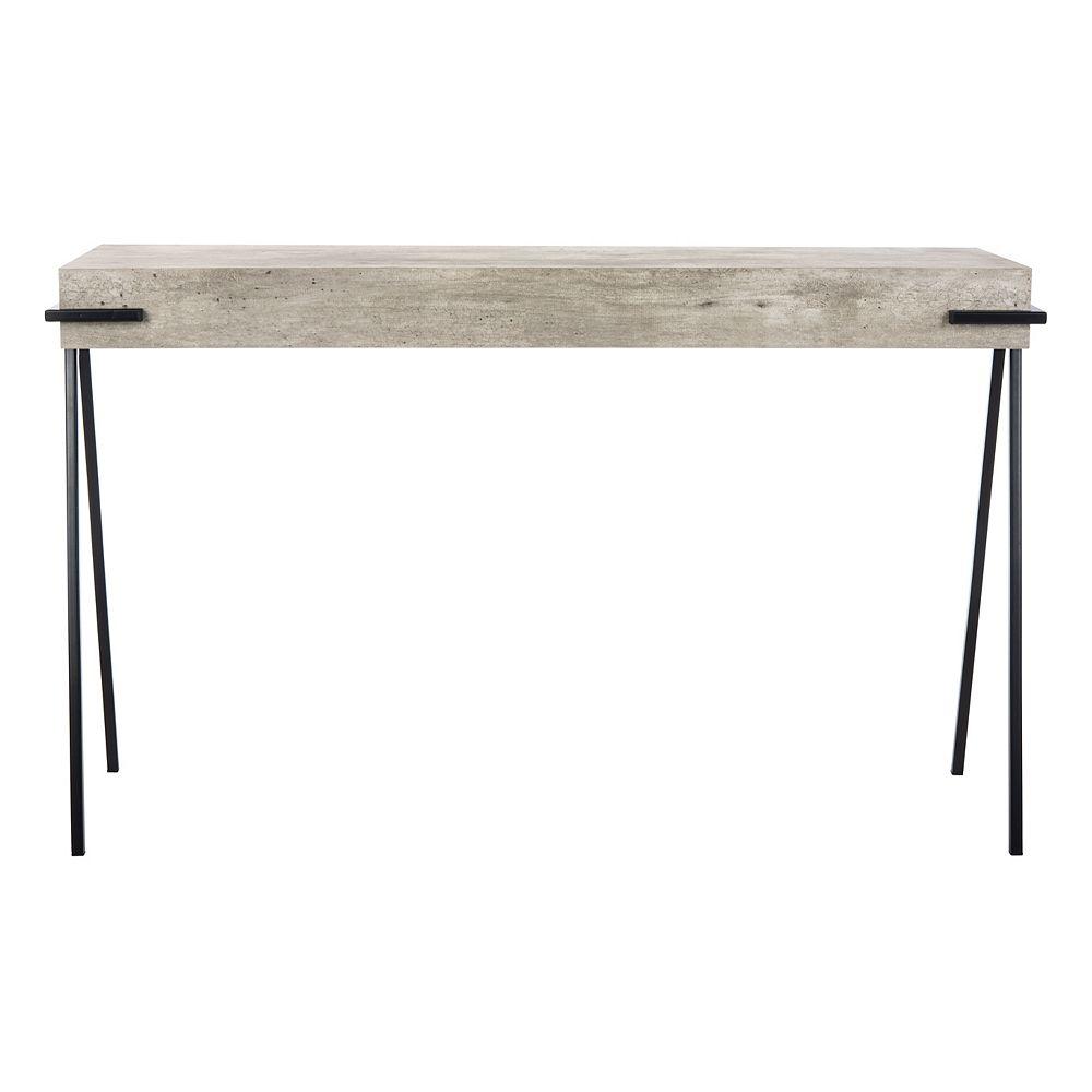 Safavieh Jett Console Table in Light Grey/Black