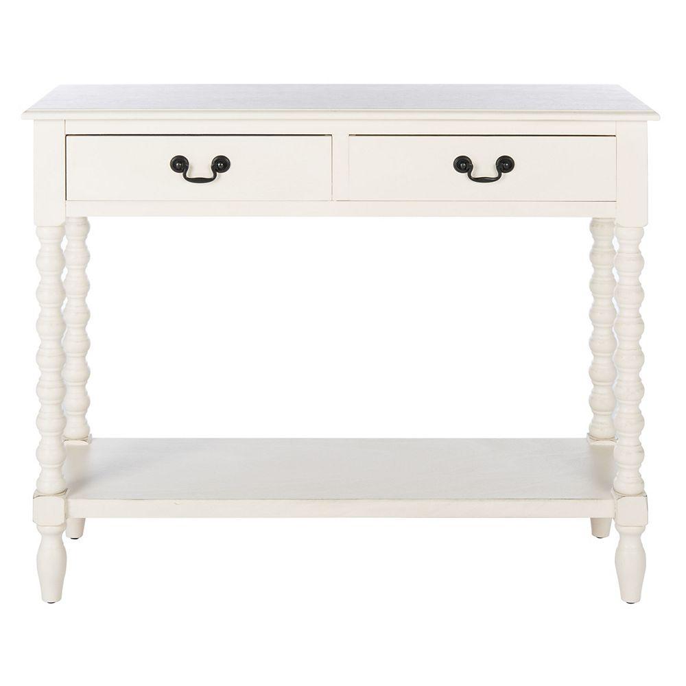 Safavieh Athena Table de Console en Blanc Vieilli