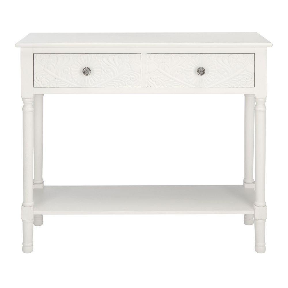 Safavieh Josie Console Table in Distressed White