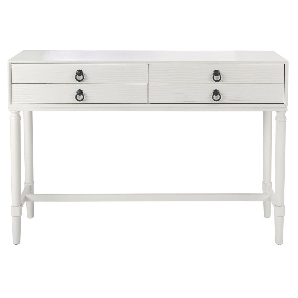 Safavieh Tia Table de Console en Blanc