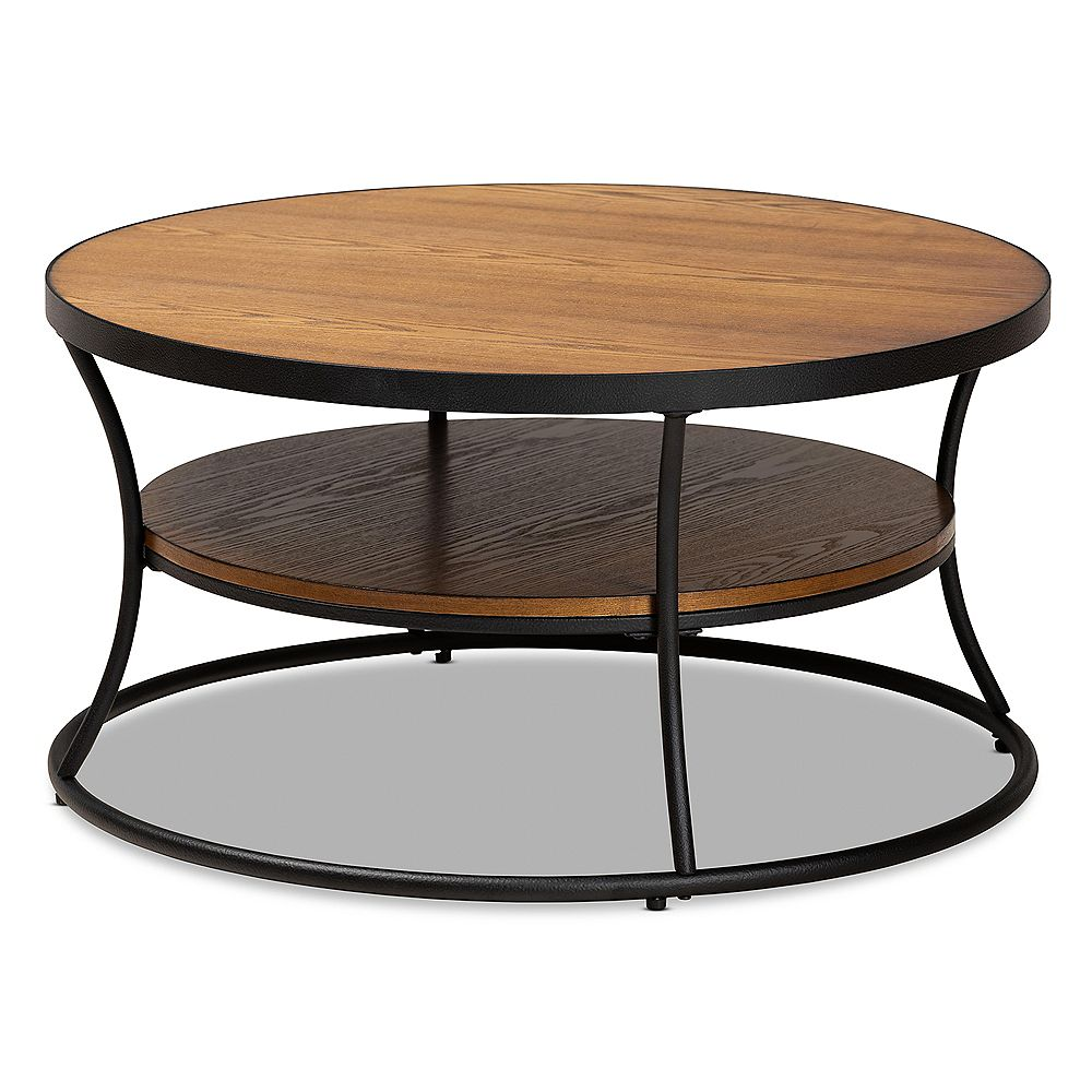 Baxton Studio Albany Coffee Table in Walnut and Black