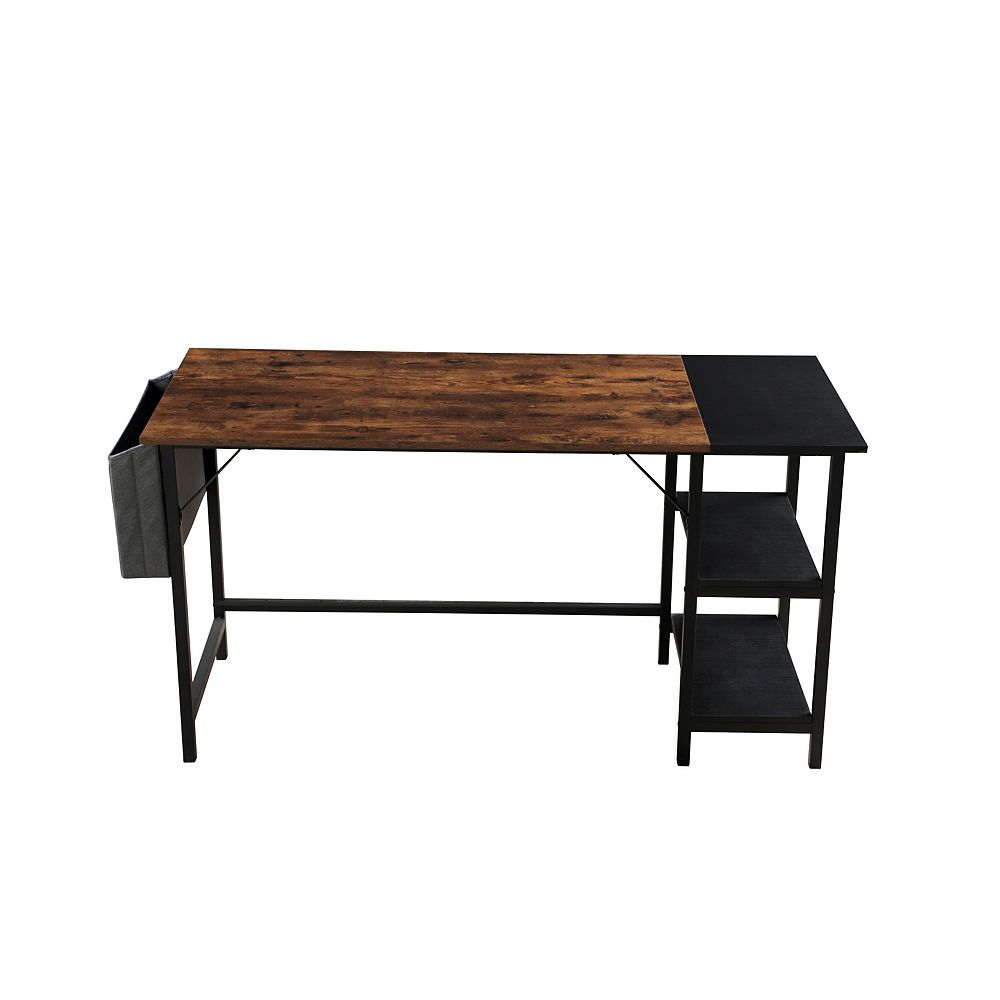 Tu Zone Writing Desk with Shelves Storage Bag Industrial Style