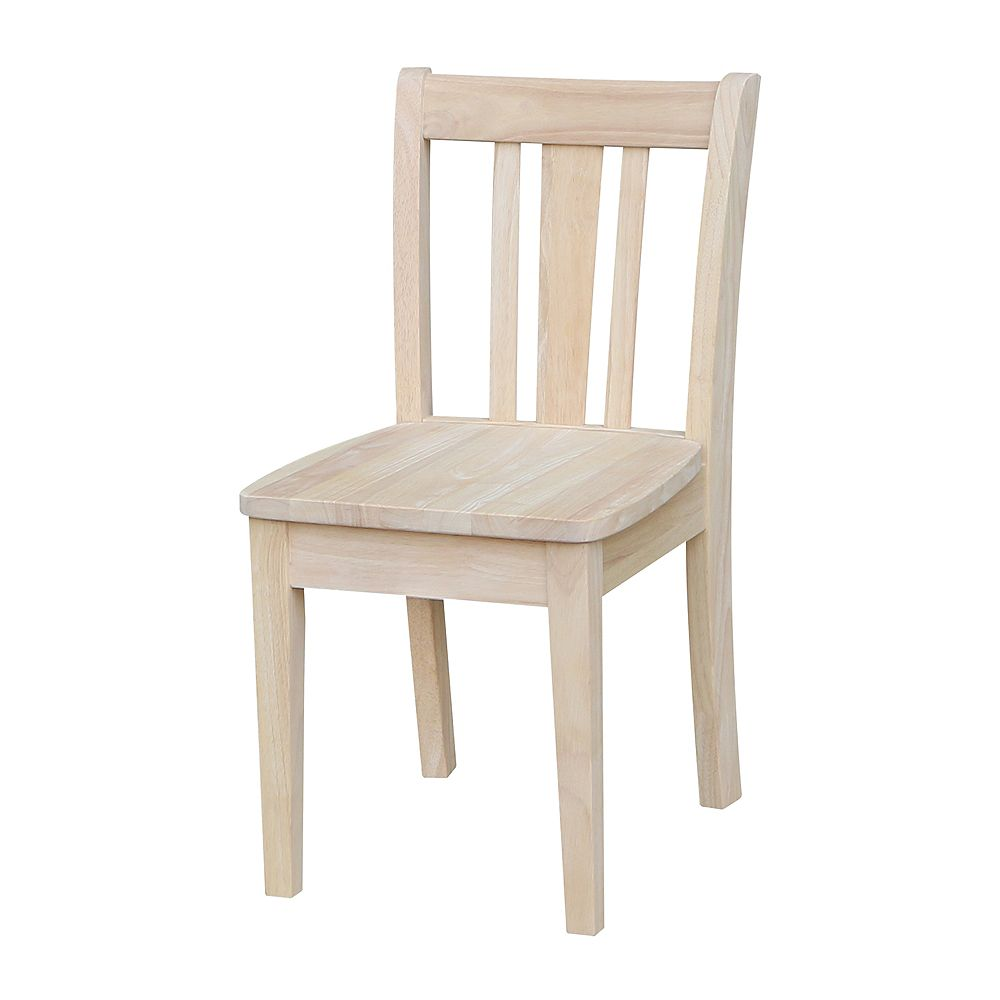 International Concepts Unfinished San Remo Juvenile Chair (Set of 2)