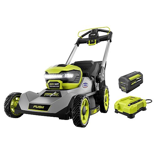 40V HP Brushless 21-inch Walk-Behind Dual-Blade Lawn Mower Kit with 7.5 Ah Battery and Charger