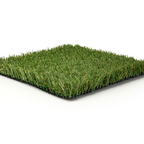 Greenline Fescue Sample 12-inch x 12-inch artificial grass for landscaping.
