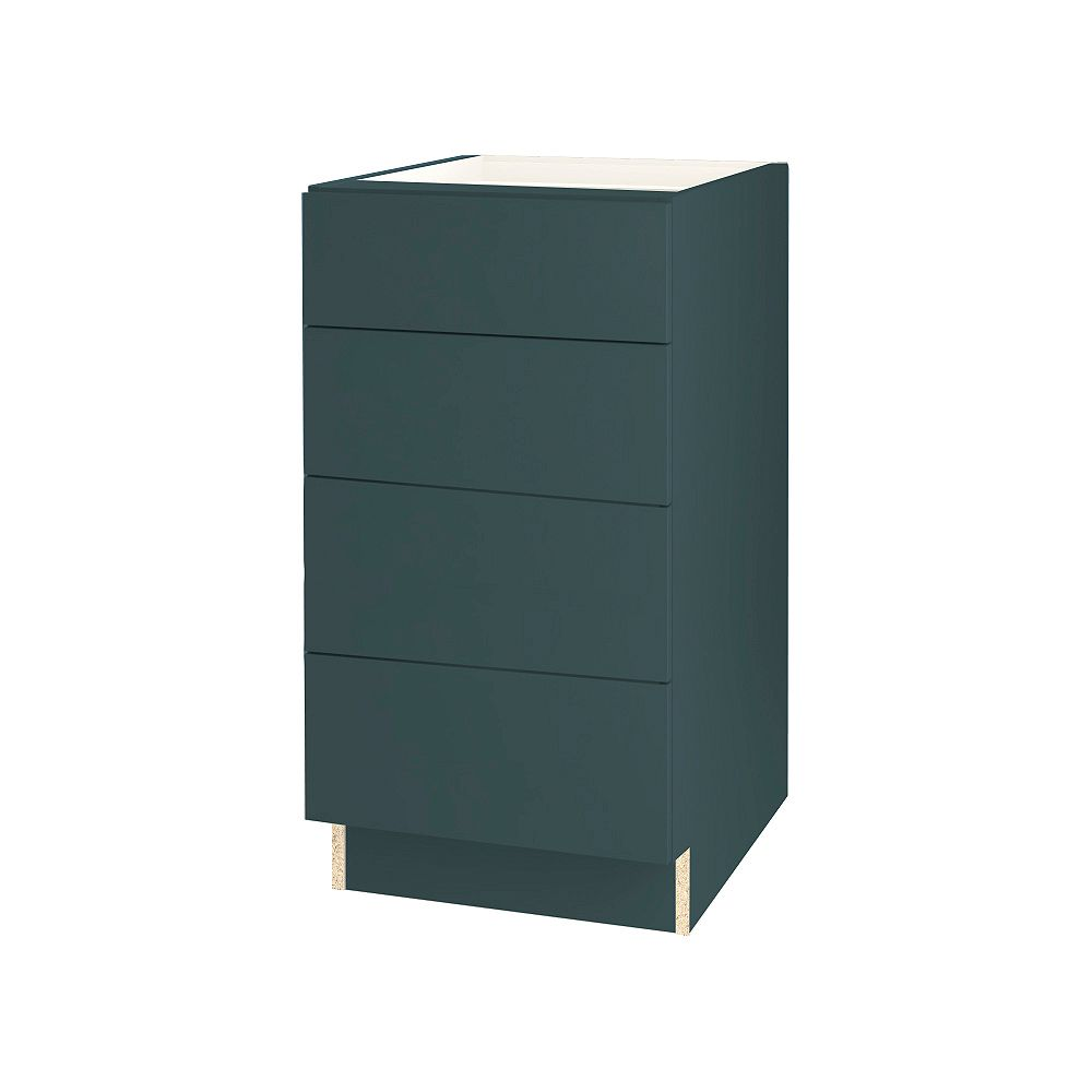 Thomasville NOUVEAU Cavette Lagoon 15 inch 4 Drawer Bank 24 inch Deep, 15 inch Wide, 34 5/8 inch High