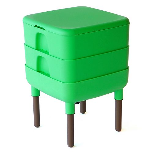 The Essential Living Composter 6 Gal. Worm Composter, Green