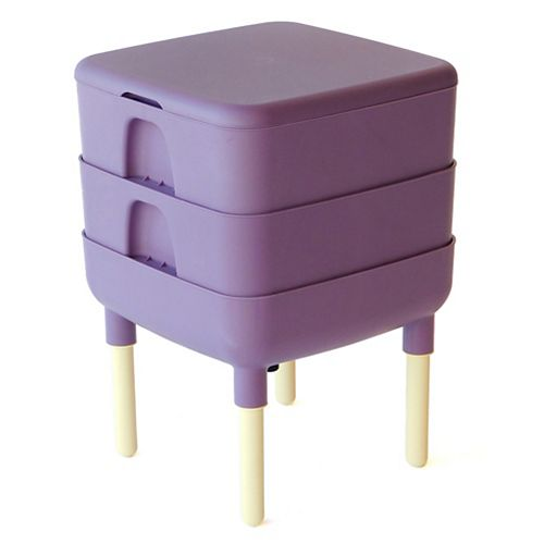 The Essential Living Composter 6 Gal. Worm Composter, Plum