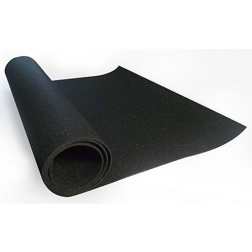 Technofloor 24-inch x 54-inch (3mm) Black All Purpose Reversible Rubber Mat