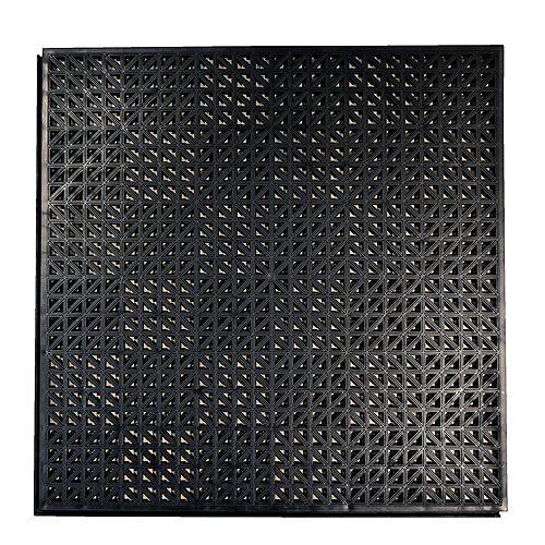 Techno Lok 18 in. x 18 in. Black PVC Garage Floor Tile (18-Pack)