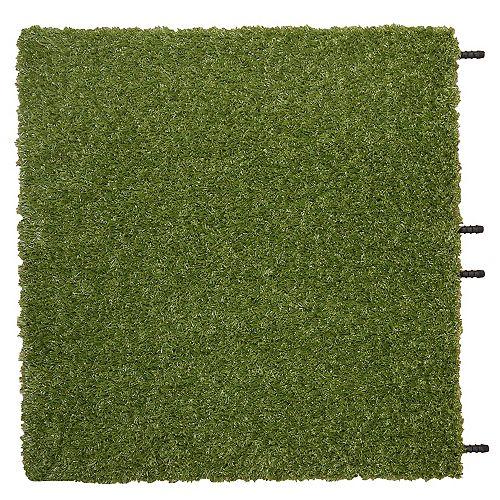 TechnoGrass 20 in. x 20 in. Indoor/Outdoor Artificial Grass Tile (8-Pack)