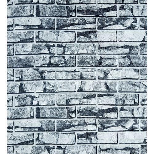 Dundee Deco Falkirk Jura III 28-inch x 30-inch Peel & Stick Decorative Wall Panel in White Grey (5-Pack)