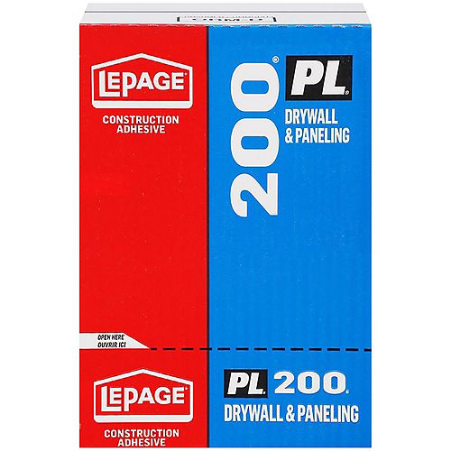 LePage PL 200 Drywall Construction Adhesive 295mL - Case Pack of 12