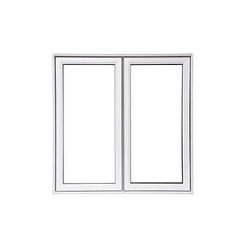 Fenêtre à battant  blanche de 60 po x 60 po fixe à droite avec technologie Vertex3 et Energy Star