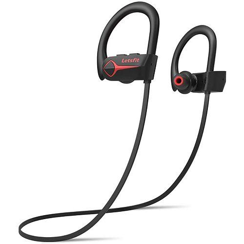U8L Bluetooth Earbud Headphones - Red/Black