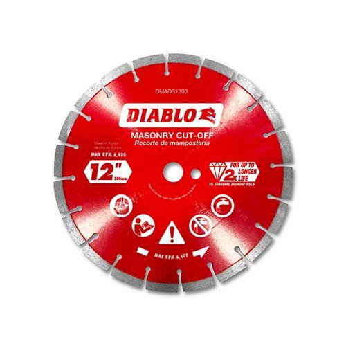 12 in. Diamond Segmented Cut-Off Discs for Masonry