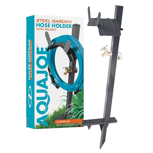 125 ft. Capacity Garden Hose Stand with Brass Faucet
