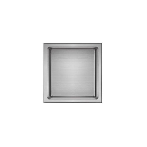 akuaplus Bath Shower Niche - 12-inch x 12-inch, Polished Stainless Steel