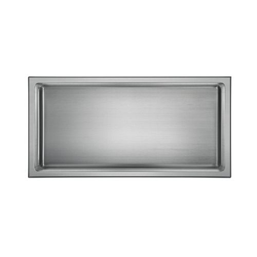 akuaplus Bath Shower Niche - 12-inch x 24-inch, Polished Stainless Steel