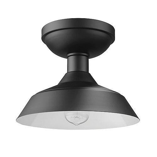 Kurt 1-Light Outdoor Indoor Flush Mount Ceiling Light, Matte Black